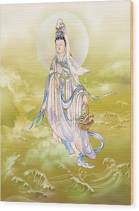 Creel Kuan Yin Wood Print by Lanjee Chee