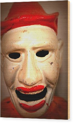 Wood Print featuring the photograph Creepy Clown by Lynn Sprowl