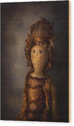 Creepy - Doll - Matilda Wood Print by Mike Savad