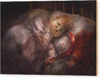 Creepy - Doll - Night Terrors Wood Print by Mike Savad