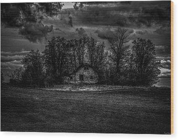 Creepy House Two Wood Print by Derek Haller