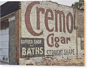Cremo Cigar Wood Print by Cathy Anderson