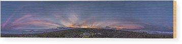 Crepuscular Burst  Wood Print by Sean King