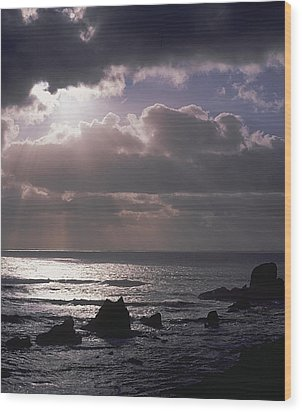 Crepuscular Rays Wood Print by Ken Dietz