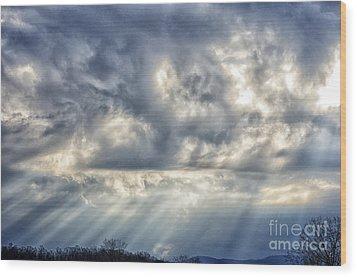 Crepuscular Rays Wood Print by Thomas R Fletcher