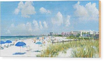 Crescent Beach On Siesta Key Wood Print by Shawn McLoughlin
