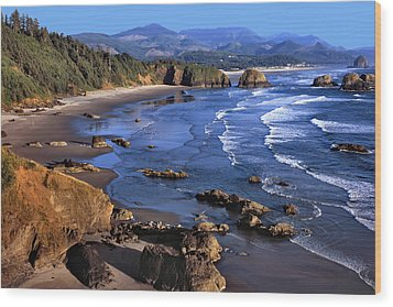Crescent Beach Oregon Wood Print