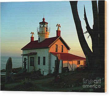 Crescent City Lighthouse Wood Print by Chad Rice
