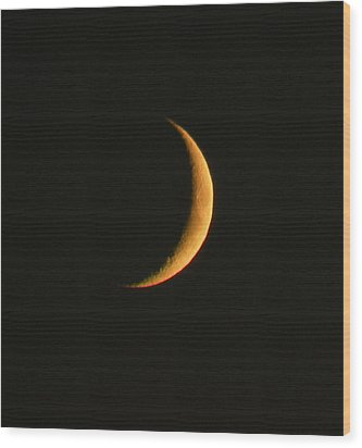 Crescent Moon Wood Print by Brian Chase