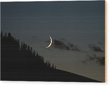 Wood Print featuring the photograph Crescent Silhouette by Jeremy Rhoades