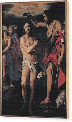 Crespi Daniele, The Baptism Of Christ Wood Print by Everett