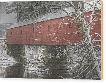 Cresson Bridge  Nh Wood Print by Gail Maloney