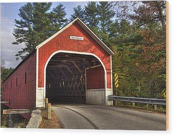 Cresson Covered Bridge 2 Wood Print by Joann Vitali