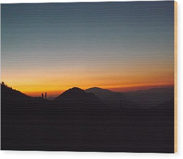 Crest Sunset Wood Print