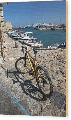 Crete Bicycle Wood Print