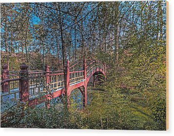 Wood Print featuring the photograph Crim Dell Bridge by Jerry Gammon