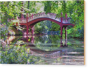 Crim Dell Bridge William And Mary College Wood Print