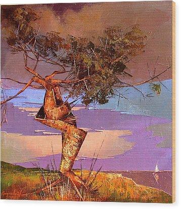 Crimean Pine Wood Print by Anastasija Kraineva