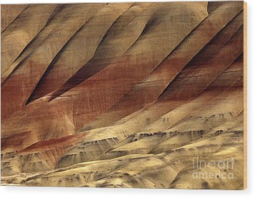 Crimson And Gold Wood Print by Mike  Dawson