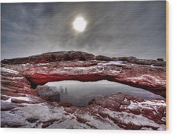 Wood Print featuring the photograph Crimson Arch by David Andersen