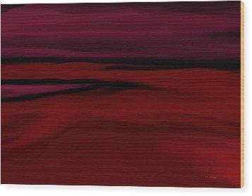 Crimson Fog Wood Print by Tim Stringer