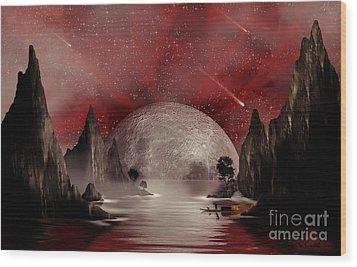 Crimson Night Wood Print by Anthony Citro