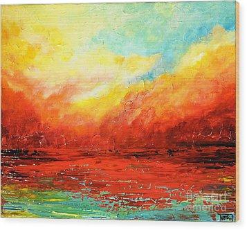 Crimson No.2 Wood Print
