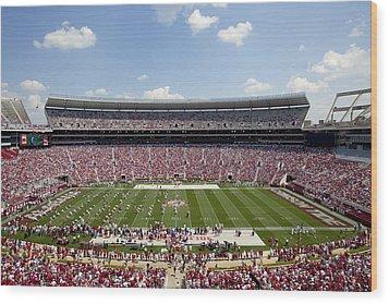 Crimson Tide A-day Football Game At University Of Alabama  Wood Print by Carol M Highsmith