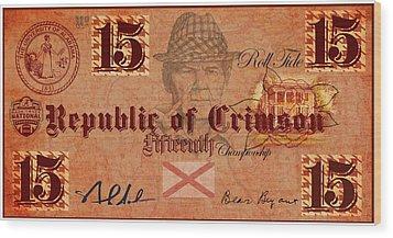Crimson Tide Currency Wood Print by Greg Sharpe