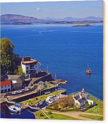 Crinan Harbour Scotland Wood Print by Craig B
