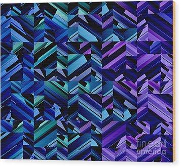 Criss Cross Blues Wood Print