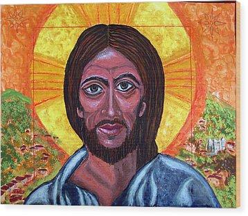 Cristo Pantocrator In Matagalpa Wood Print