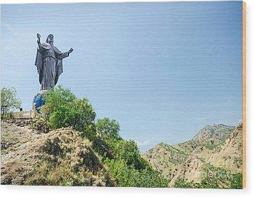 Cristo Rei Statue Near Dili East Timor Timor Leste Wood Print