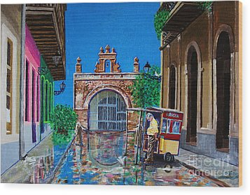 Capilla De Cristo - Old San Juan Wood Print by The Art of Alice Terrill
