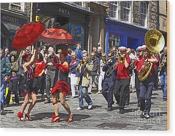 Criterion New Orleans Parade Band Wood Print