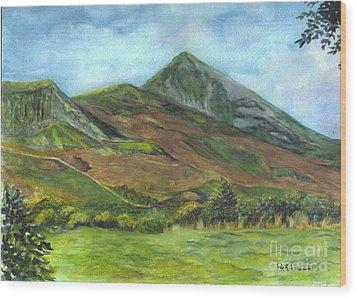 Croagh Saint Patricks Mountain In Ireland  Wood Print