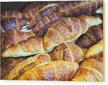 Croissants  Wood Print by Tanya Harrison