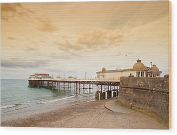 Cromer Pier Wood Print by Shirley Mitchell