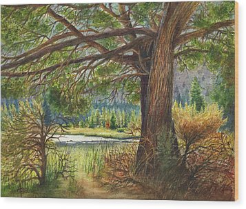 Crooked River Shade Wood Print