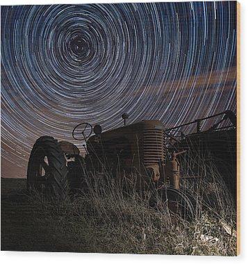 Crop Circles Wood Print by Aaron J Groen