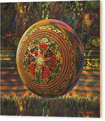 Croquet Crochet Ball Wood Print by Robin Moline