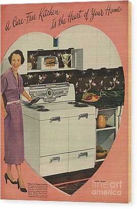 Crosleys  1950s Uk Cookers Kitchens Wood Print by The Advertising Archives