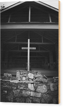 Wood Print featuring the photograph Cross 2 by Kelly Hazel