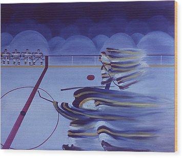 Cross Ice Pass Wood Print by Ken Yackel