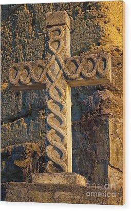 Cross In Santiago Wood Print
