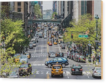Wood Print featuring the photograph Cross Manhattan - 42nd Street by James Howe