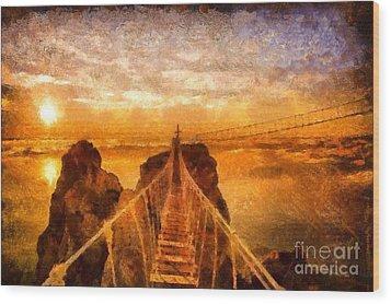 Cross That Bridge Wood Print