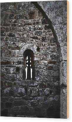 Crosses And Stone Walls At Clonmacnoise Wood Print
