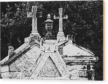 Crosses Of Metairie Cemetery Wood Print by Andy Crawford