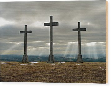 Wood Print featuring the photograph Crosses by Rod Jones
